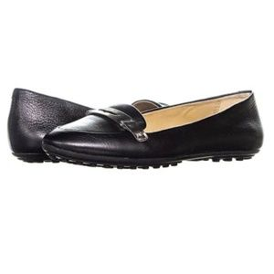 Coach Ruthie Black Leather Loafer Moc Flats